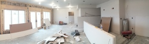 Our new house is taking shape on the farm.  They are mudding the drywall today.  We hope to be in by June.